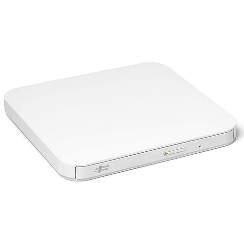 LG Hitachi 8x Ultra Slim Portable USB 2.0 DVD-Writer - White