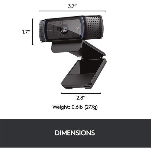 Logitech C920 PRO HD 1080p Webcam - Black