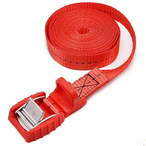 Cargo Lashing Strap with Cam Buckle - Red - 4M
