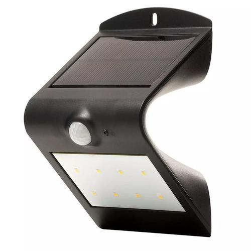 Luceco Solar Guardian Wall Light With PIR - Black (IP44)