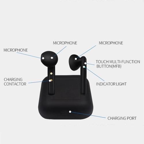 M1011 TWS Wireless Earphones Bluetooth 5.0 with Charging Case - Black