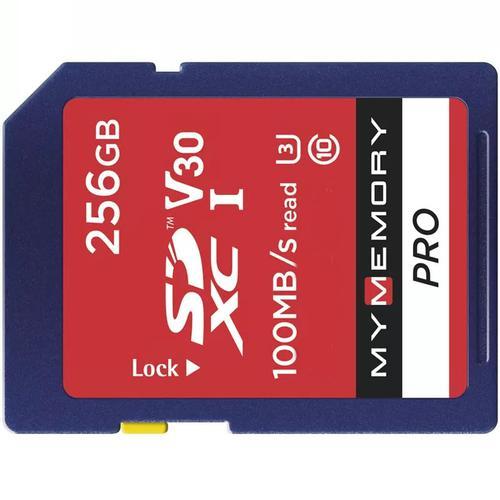 MyMemory 256GB V30 PRO High Speed SD Card (SDXC) UHS-1 U3 - 100MB/s FFP