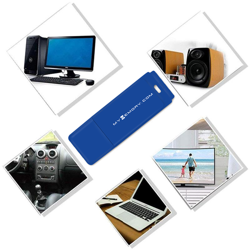 MyMemory LITE 128GB USB 2.0 Flash Drive - Blue