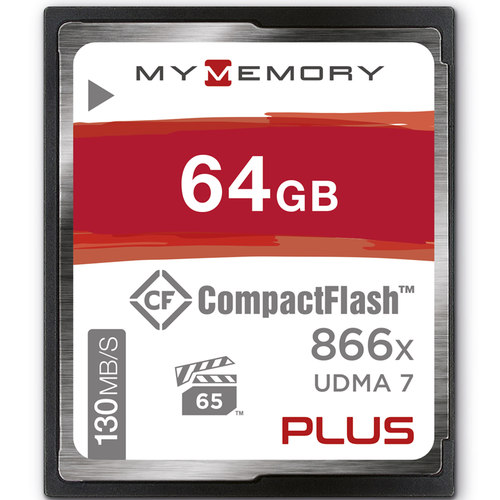 MyMemory PLUS 64GB 866X Compact Flash Card - 130MB/s