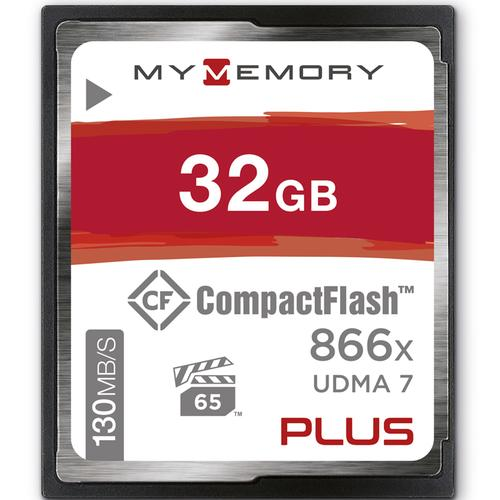 MyMemory PLUS 32GB 866X Compact Flash Card - 130MB/s