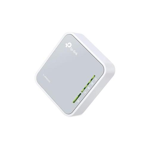 TP-Link AC750 433Mbps (5GHz) 300Mbps (2.4GHz) Dual-Band Wireless Travel Router (Grey/White) - V1.0