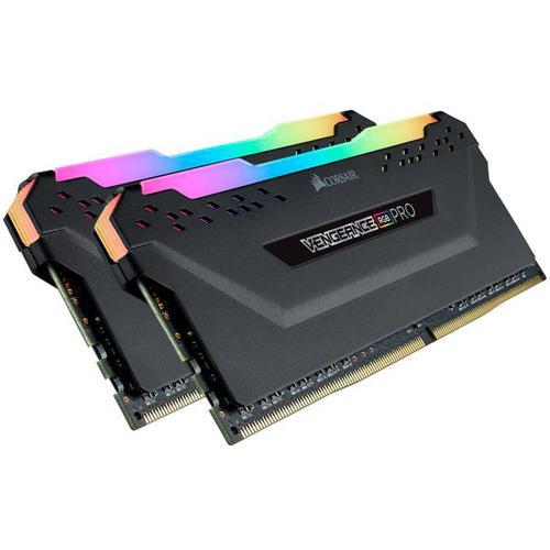 Corsair VENGEANCE RGB PRO 32GB (2x16GB) 2666MHz DDR4 Non-ECC 288-Pin CL16 DIMM PC Memory Module - Black