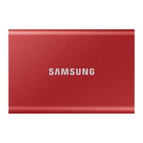 Samsung 1TB T7 USB-C 3.2 G2 Portable SSD Drive (Red) - 540MB/s