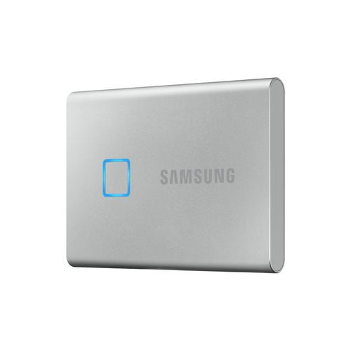 Samsung 500GB T7 USB-C Touch Portable SSD Drive (Silver) - 540MB/s