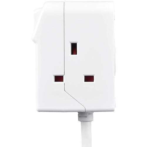 Masterplug 3 Socket Switched Extension Lead - 2M