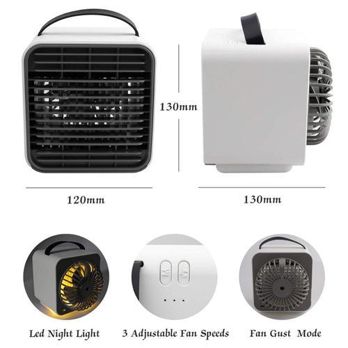 Mini Portable USB Air Conditioning Unit + Night Lamp - White