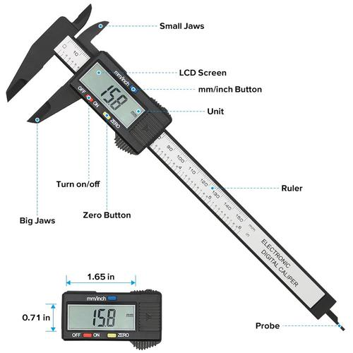 """Micrometer Measure Electronic Digital Caliper 150mm/6"""""""
