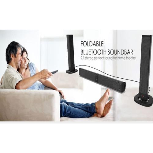 Multifunction BT Sound Bar Foldable and Detachable Home Speaker, PC
