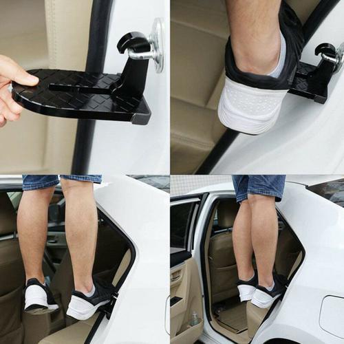 Multifunction Car Assist Folding Pedal - Black