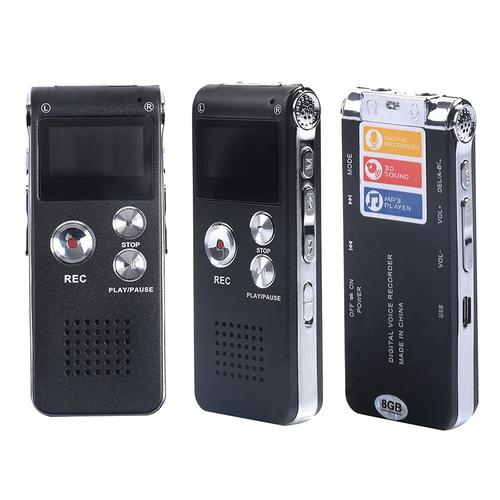 Multifunctional Digital Voice Recorder Rechargeable with MP3 Player