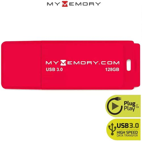 MyMemory 128GB 3.0 USB Flash-Laufwerk - Rot - 200MB/s