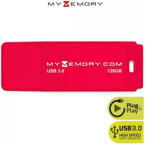 MyMemory 128GB USB 3.0 Flash Drive 120MB/s - Red - 2 Pack
