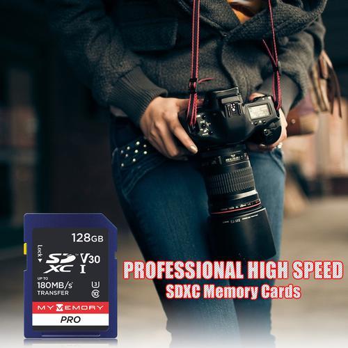 MyMemory 128GB V30 PRO SD Card (SDXC) UHS-I U3 - 180MB/s