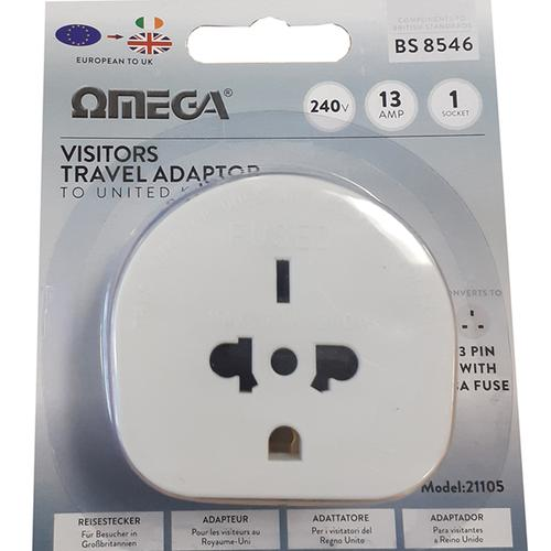 Omega Visitors Travel Adapter to UK
