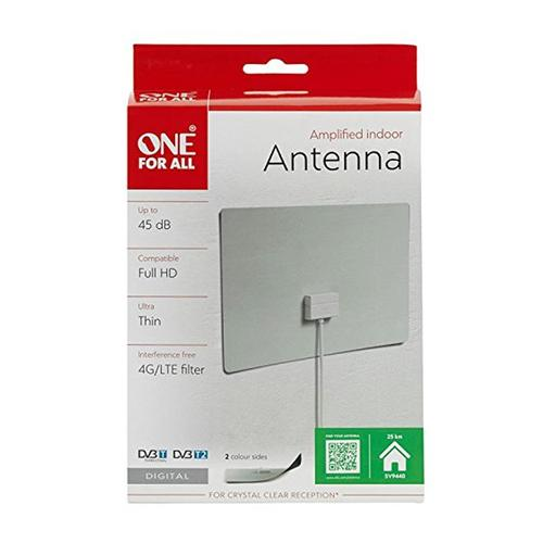 One For All Ultra Flat Amplified Indoor Aerial 45dB