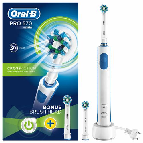 Oral-B PRO 570 3D Cross Action Electric Toothbrush + Refill