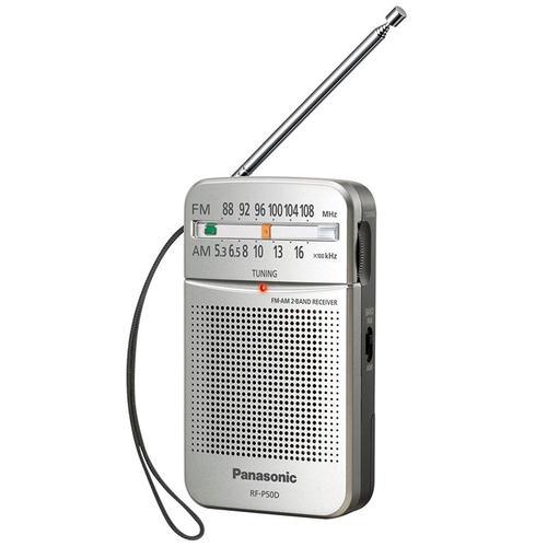 Panasonic RF-P50DEG-S Portable FM/AM Radio - Silver