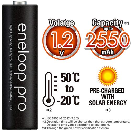 Panasonic Eneloop Quick Charger + 4 AA x 2500 mAh Rechargeable Batteries