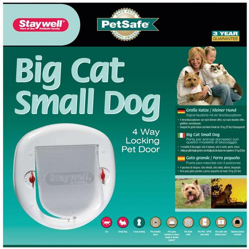 PetSafe Staywell Big Cat or Small Dog Pet Door - White