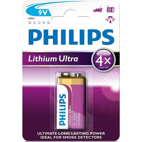 Philips Lithium Ultra 9V Long Lasting Battery