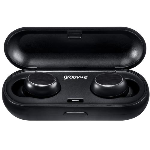 Groov-e Play Buds True Wireless Earphones with Charging Case - Black