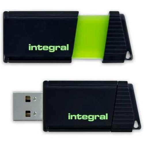 Integral 128GB Pulse USB Flash Drive - 12MB/s - Green