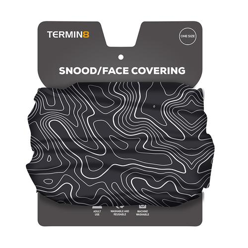 Snood Face Covering - Black Swirl