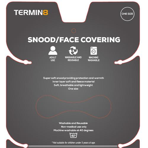 Snood Face Covering - Grey Geometric