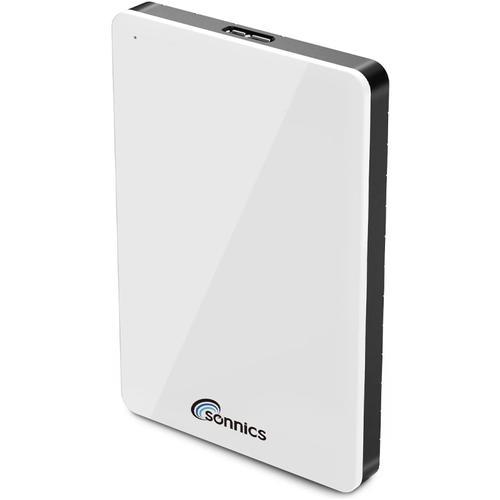 Sonnics 250GB External Portable Hard Drive USB 3.0 - White