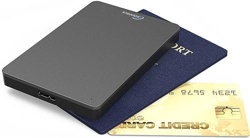 Sonnics 250GB External Portable Hard Drive USB 3.0 -  Dark Grey