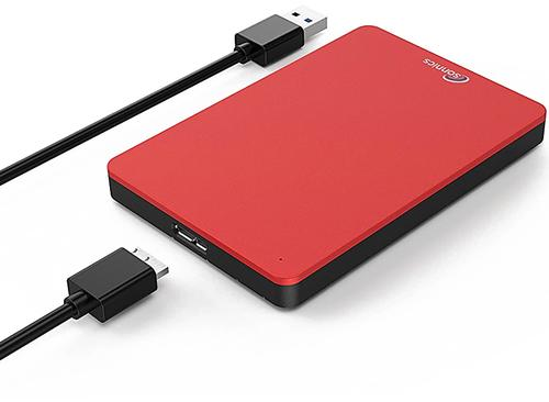 Sonnics 250GB External Portable Hard Drive USB 3.0 - Red