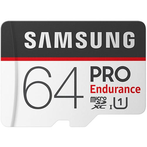 Samsung 64GB PRO Endurance Micro SD Card (SDXC) + SD Adapter - 100MB/s