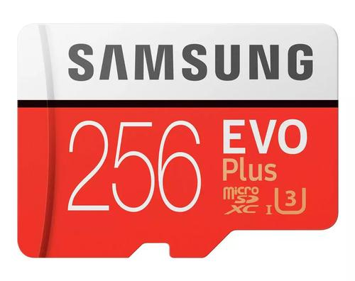 Samsung 256GB Evo Plus Micro SD Card (SDXC) UHS-I U3 + Adapter - 100MB/s