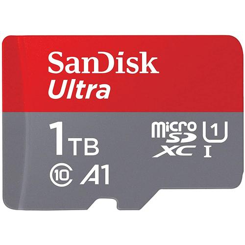 SanDisk 1TB Ultra Android Micro SD Card (SDXC) UHS-I U1 + Adapter - 120MB/s