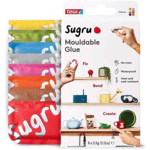 Sugru Mouldable Glue 8 Multicolour - 8 Pack