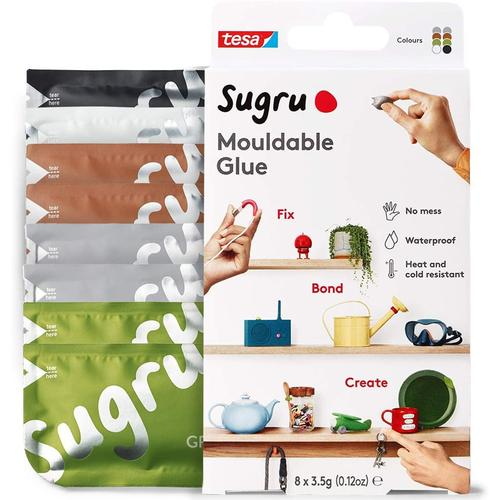 Sugru Mouldable Glue Natural Colours - 8-Pack