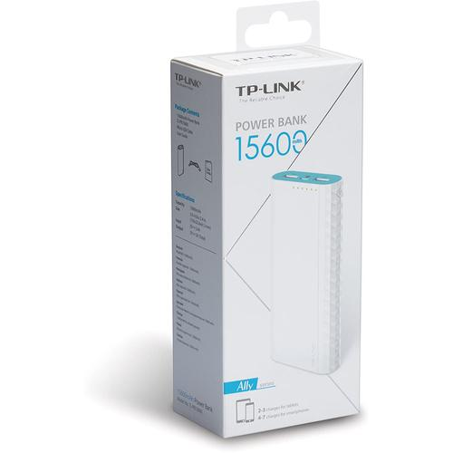 TP-Link 15600mAh 2.4A Portable Power Bank Dual Ports - White