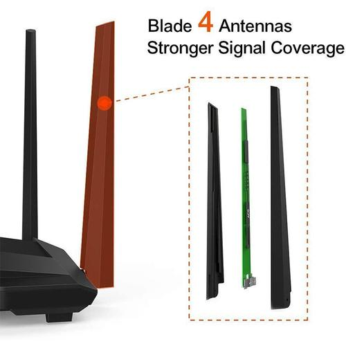 Tenda AC10 Smart Dual Band WiFi Router - 1200Mbps