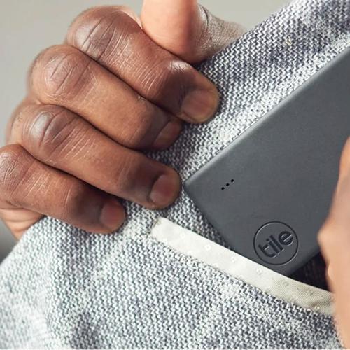 Tile Slim V2 Bluetooth Item Tracker Finder - Black