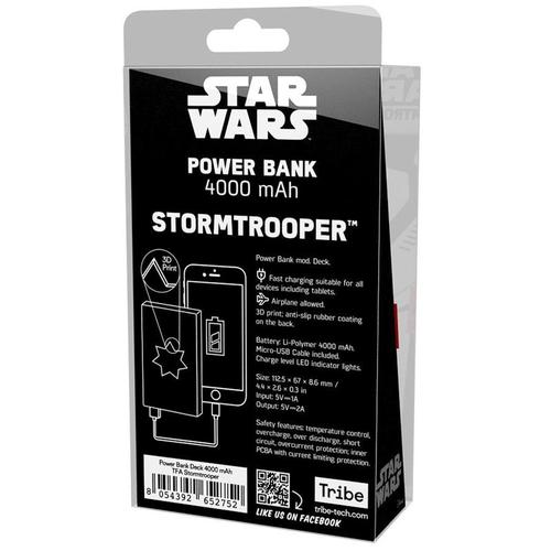 Tribe Star Wars 4000mAh Fast Charge Power Bank - StormTrooper
