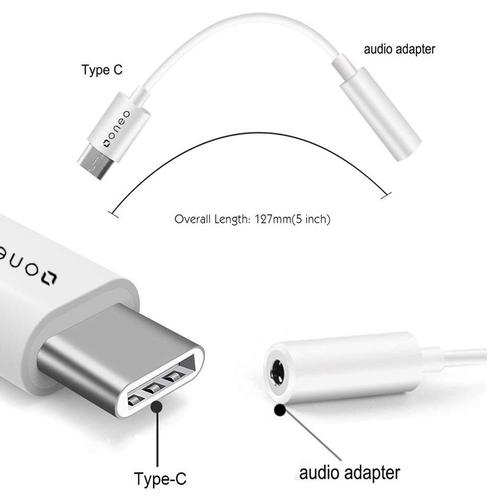 oneo USB-C to 3.5mm Headphone Jack Adapter - FFP