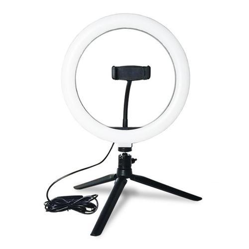 """10"""" USB Selfie LED Ringlicht mit Ständer und Telefonhalterung"""