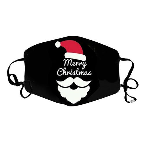 Washable Full Fabric Fashion Face Mask with Filter Pocket - Christmas