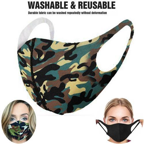Washable Adult Fashion Face Mask - Forest Camo