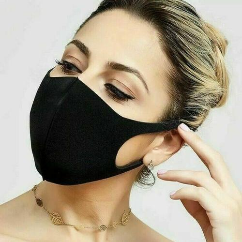 Washable Adult Fashion Face Mask - Super Black